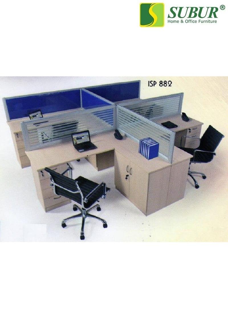 Meja Kantor 4 Orang Aditech Type Isp 882 Subur Furniture Online Store Plaza Savello Luxio Mt0 Kursi Jabodetabek